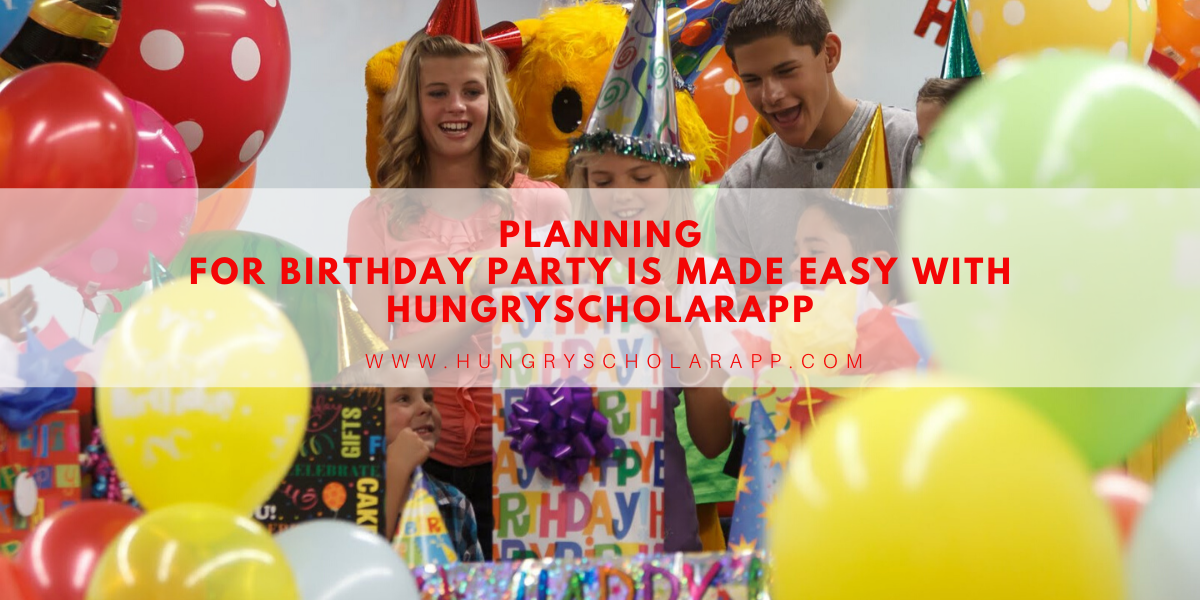 Planning for birthday party