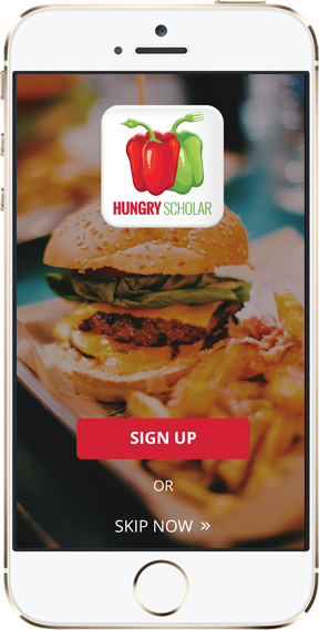 Hungry Scholar App for Restaurant Deals